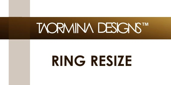 RING RESIZE - Fee and Procedures