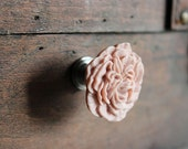 Drawer Knobs Peony Flower in Hibiscus Pink, more COLORS available (RFK02)