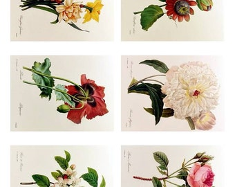 Instant Download ATC Vintage Floral Collage Sheet  ACEO Backgrounds , Printables, Downloads, DigitalCollageSheets