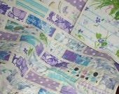 """SALE: Lap Quilt """"Subway Wall""""  Throw, Up-cycled Vintage Sheets"""