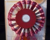 Lovely New Bravissimo Embellishment - Tones of Red - from Making Memories - FREE SHIPPING