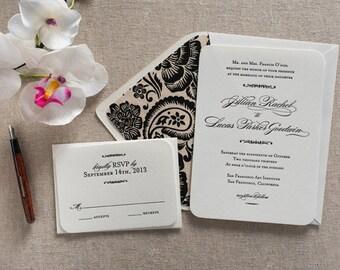 Letterpress Invite - Letterpress Wedding Invitations - Savannah