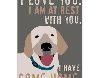 Labrador Retriever Rescue Art Print, Lab Art, Lab Print, Yellow Lab, Rescue Art, Inspirational Quote