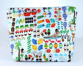 POUCH- A Day On The Island **handmade**