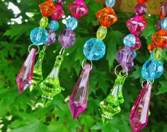 Vibrant Multi-Color Magnetic Prisms for Chandeliers Lamps or Sconces MADE TO ORDER