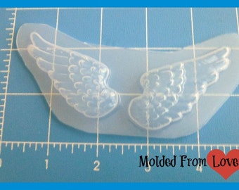 SALE A pair of Wings  Flexible Plastic Handmade Resin Mold