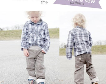the SURFER slacks boy lounge pants PDF PATTERN 2t-6