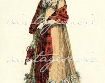 ACKERMANN Regency Fashion Plate Print COLLAGE SHEET 1818 Print 17 Digital Download Jane Austen