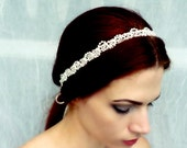 Pearl Headband - Ivory or White Headpiece - Vintage Style Headband - Bridal Headpiece - Vintage Wedding