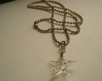 Rock Crystal Star Necklace