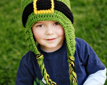 Leprechaun Beanie St. Patrick's Day - Kids Crochet Hat