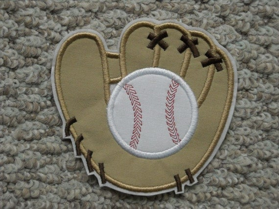 baseball glove machine embroidery iron by thegardenboutique. Black Bedroom Furniture Sets. Home Design Ideas