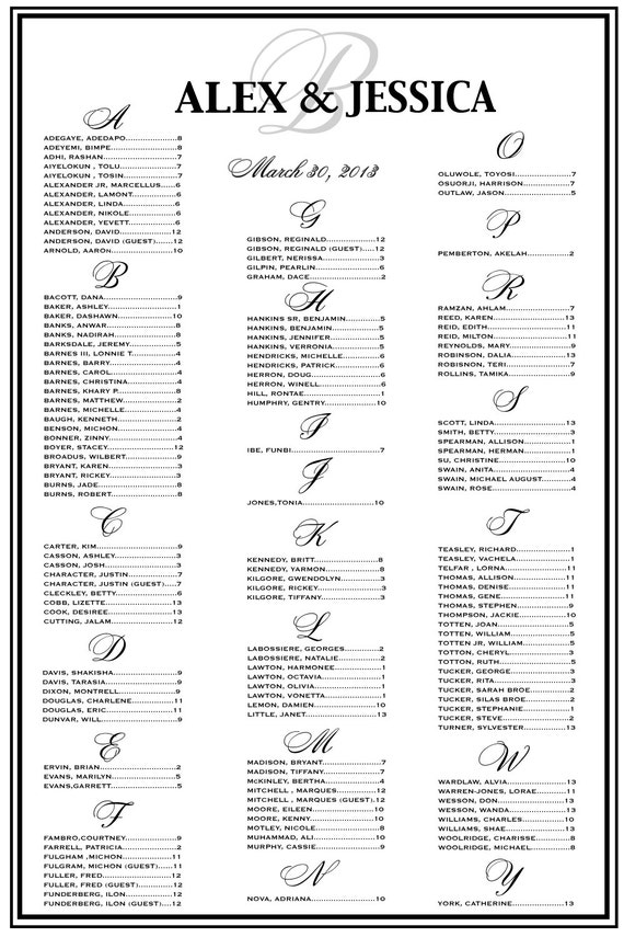 items similar to wedding seating chart  wedding seating