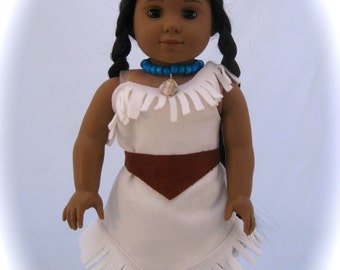 Doll Clothes Pocahontas Sized for American Girl Dolls or other 18 inch Dolls