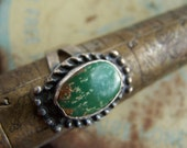 Sterling Turquoise Ring Size 6 Silver VINTAGE by Plantdreaming
