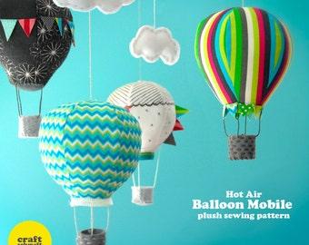 Hot Air Balloon Mobile e-Pattern (PDF)