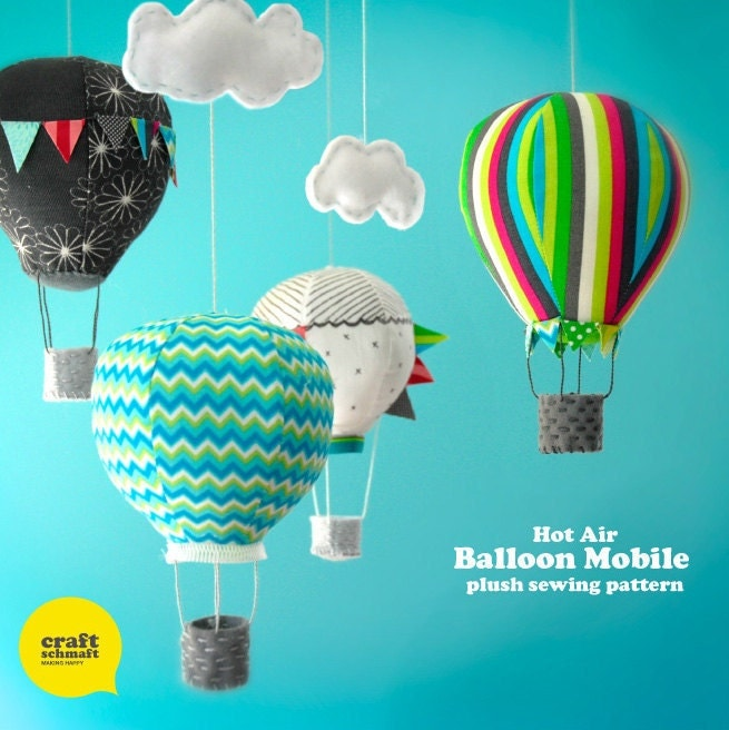 Hot Air Balloon Mobile E Pattern Pdf By Craftschmaft On Etsy