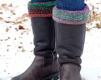 Boot Cuffs Boot Toppers Hand Knit