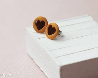 Valentine Cookie - Earring Posts