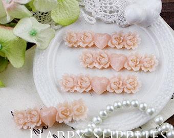 Last - Big Sale -22Pcs High Quality Antique Unique Rose with Heart Cabochon (SZ3)