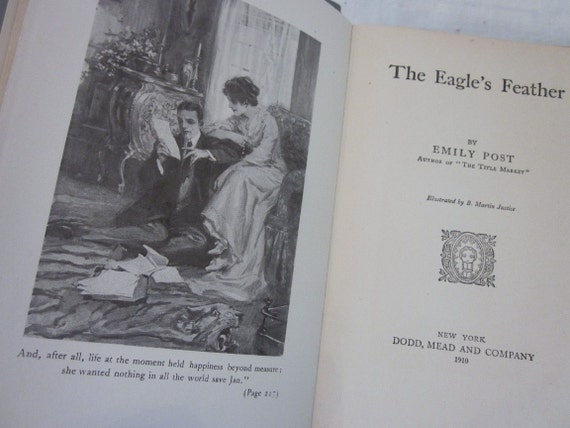 Emily Post Etiquette Book: Vintage The Eagle's Feather By Emily Post By Stellabystar