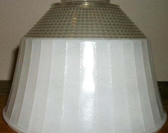 Clear and White Light Sconce with Waffle Design and Notched Edges