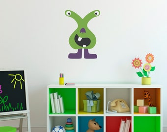 Monster Wall Decal - Monster Wall Art Sticker - Children Wall Decals - 8