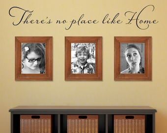 There's no place like Home Wall Decal - Wizard of Oz Quote Wall Sticker - Large