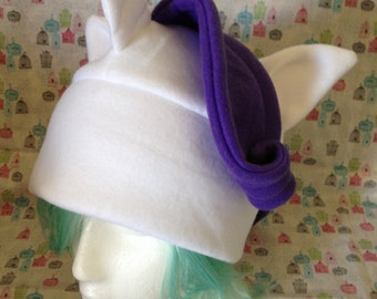 Rarity from My Little Pony: Friendship is Magic Inspired Fleece Hat Handmade