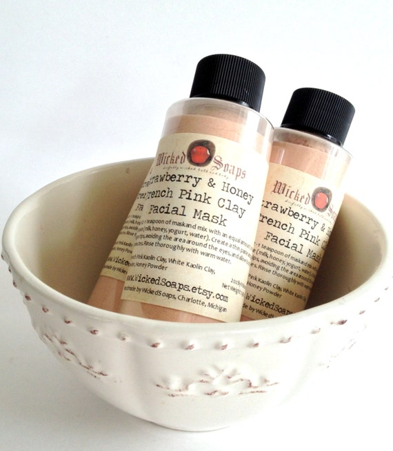Strawberry and Honey Facial Mask with French Pink Clay - Sensitive to Normal Skin Types