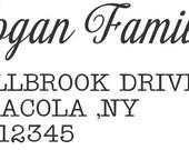 Bulldog   Custom Rubber stamp Self ink Return Address Signature  Stamp great gift