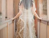 Alexandra Mantilla Veil ,Lace Mantilla Veil ,Cathedral Veil, Chapel Mantilla Veil, Fingertip Mantilla Veil, Waist length Veil, Waltz Veil