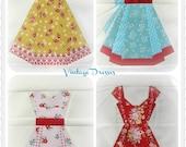 Vintage Dresses, a Paper Piecing Pattern