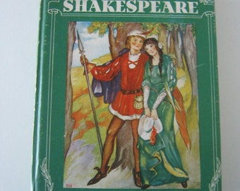 Book, vintage 1930s, Stories from Shakespeare, The Little Giant Books, Whitman Publishing Company