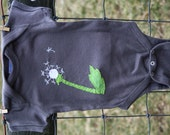 "Dandelion Baby Onesie ""Wishes, not weeds"", baby shower gift - twinzzshop"