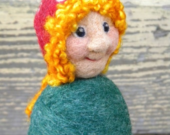 Needle Felted Gnome Lady / Ms. B. Gnome