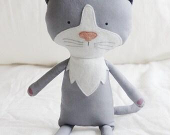 Cat Sewing Pattern Kitten Softie Plush Toy Cloth Doll Pattern PDF