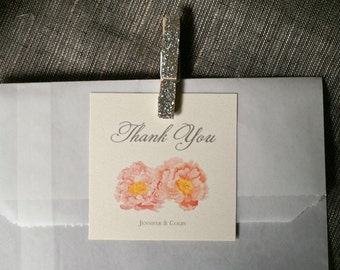 Peony - Thank you - Wedding Tags - Weddings - events - Parties - paper goods - decoration