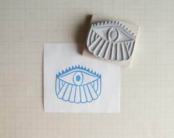 Magic Eye Hand Carved Rubber Stamp