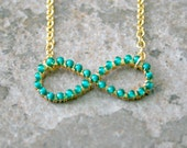CLEARANCE Emerald Infinity Necklace