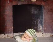 Newborn photo prop, newborn hat, newborn boy, newborn girl, knit newborn hat, newborn props, newborn elf hat with tassels
