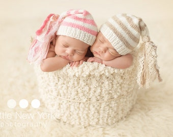 Newborn photo prop, newborn hat, newborn boy, newborn girl, newborn props,  Newborn elf hat with tassels
