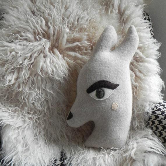 the Deer: plush wool pillow