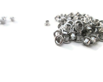 Silver Eyelets, 1/8 inch, Silver, Scrapbooking, 200 Eyelets, Round Metal, Eyelets, Silver Round, Scrap Booking, 1/8 Silver Eyelet