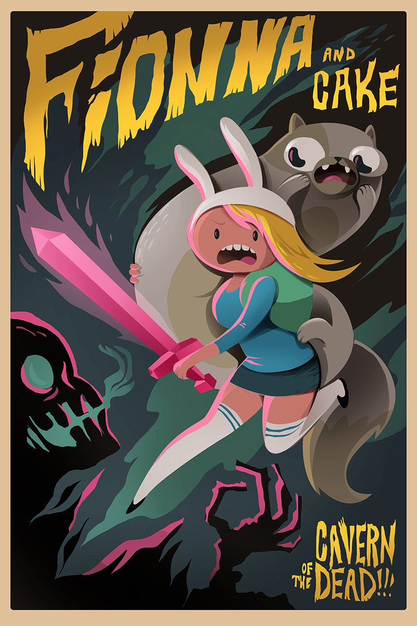 Fionna And Cake Adventure Time Poster