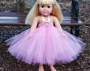 "Little Ballerina Empire Waist Tutu Dress - Fits American Girl Dolls and other 18"" Dolls"