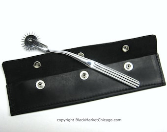 BDSM Neuralwheel Pinwheel with Leather Case SET includes either One OR Two Whartenberg Neuralwheels