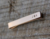 Custom Tie Tack / Tie Bar - Personalized on two sides in Bronze or Aluminum - Perfect for Father's Day / Groomsmen