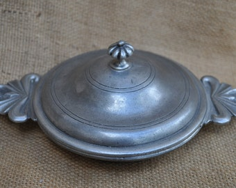 Vintage French Pewter - Ecuelle or Porringer - Les Etains de Paris