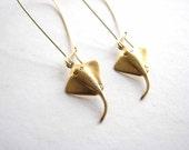 stingray earrings - ocean sting ray jewelry - manta ray